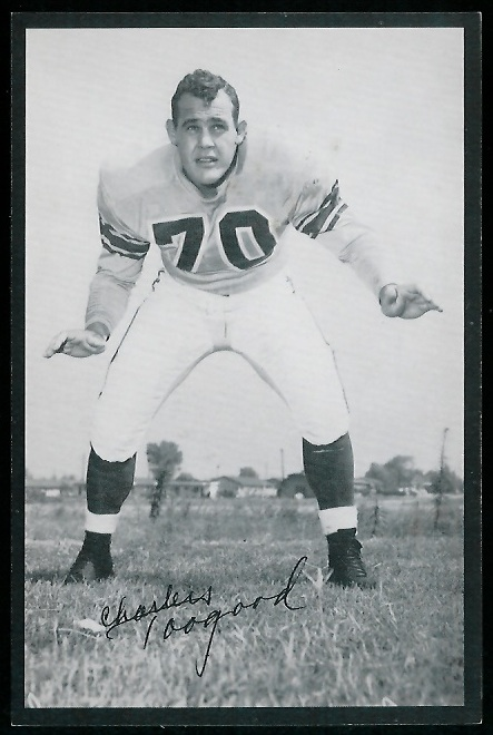 Charles Toogood 1954 Rams Team Issue football card