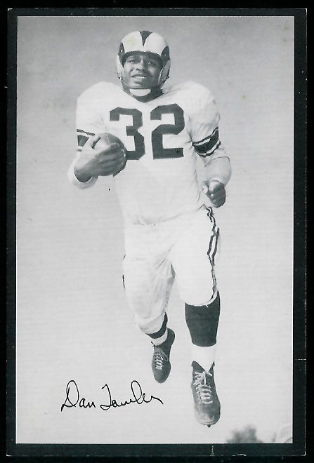 Dan Towler 1954 Rams Team Issue football card