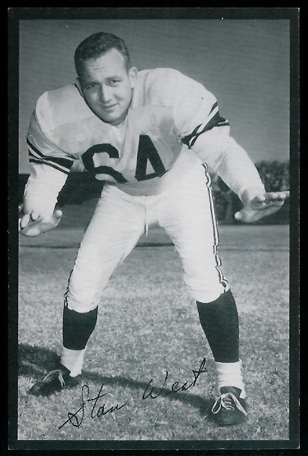 Stan West 1954 Rams Team Issue football card