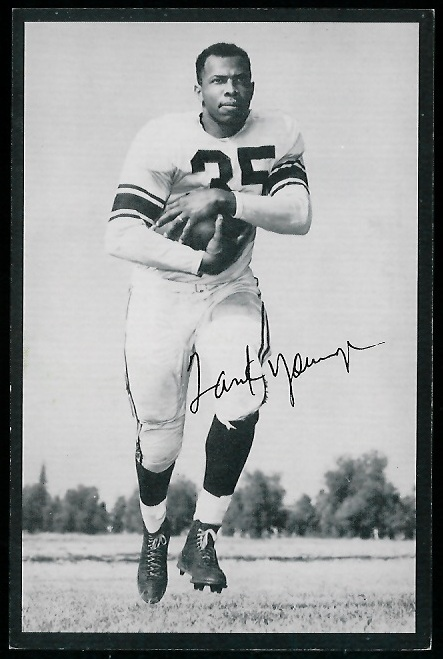 Tank Younger 1954 Rams Team Issue football card