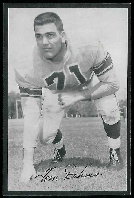 Tom Dahms 1954 Rams Team Issue football card
