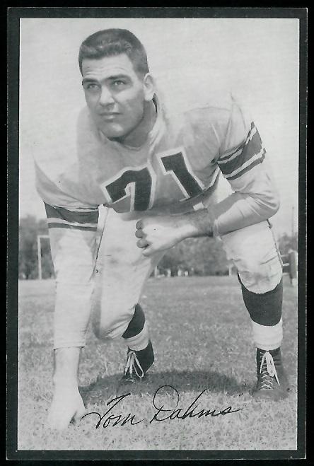 Tom Dahms 1954 Rams Team Issue football card
