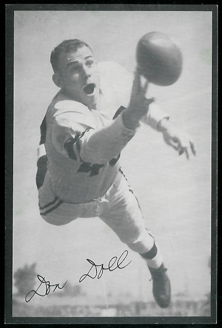 Don Doll 1954 Rams Team Issue football card
