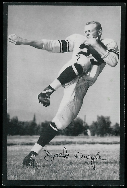 Jack Dwyer 1954 Rams Team Issue football card