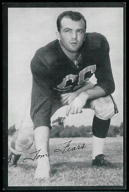 Tom Fears 1954 Rams Team Issue football card