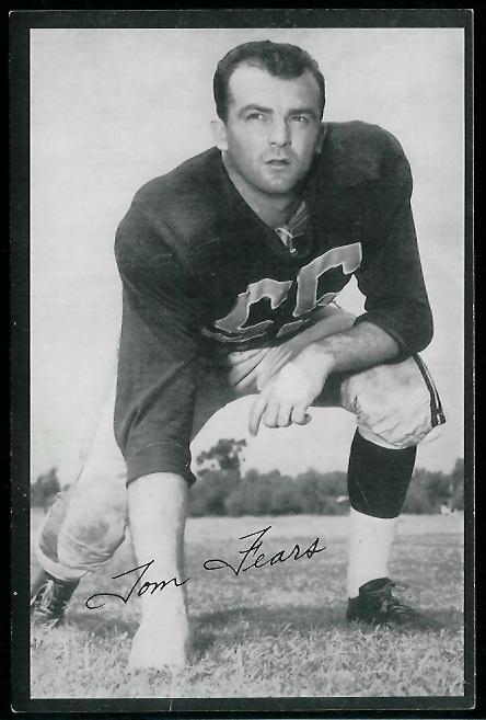Tom Fears 1954 Rams Team Issue football card