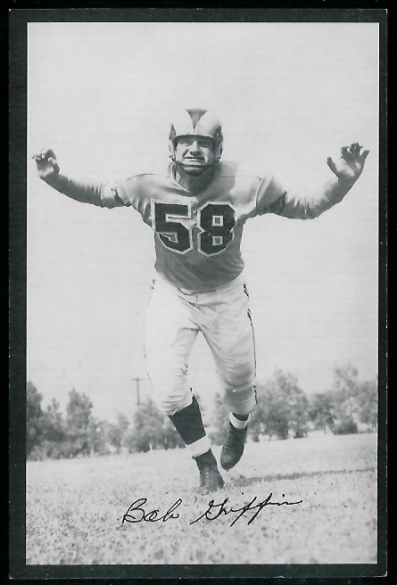 Bob Griffin 1954 Rams Team Issue football card