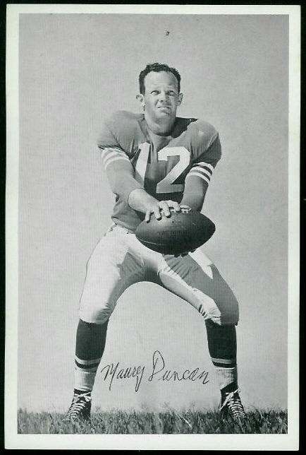 Maury Duncan 1955 49ers Team Issue football card