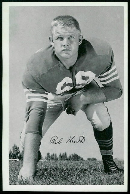 Bob Hantla 1955 49ers Team Issue football card
