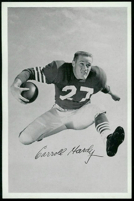 Carroll Hardy 1955 49ers Team Issue football card
