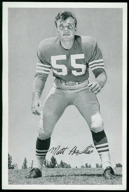 Matt Hazeltine 1955 49ers Team Issue football card
