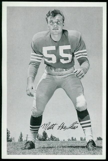 Matt Hazeltine 1955 49ers Team Issue football card