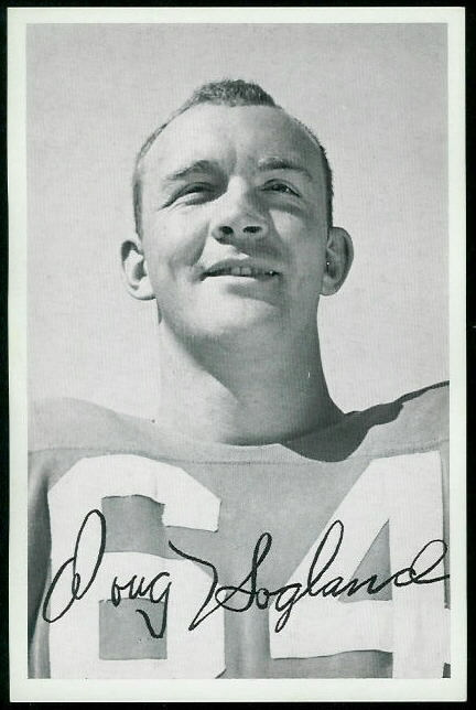 Doug Hogland 1955 49ers Team Issue football card
