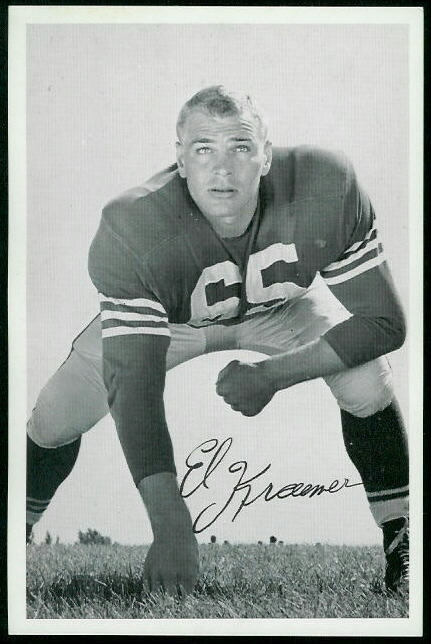 Eldred Kraemer 1955 49ers Team Issue football card