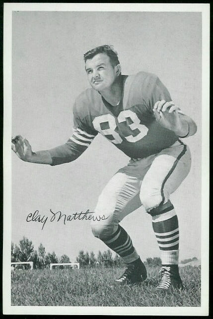Clay Matthews 1955 49ers Team Issue football card