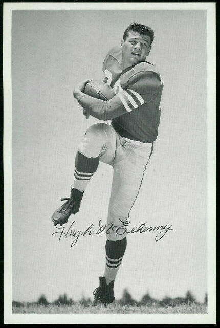 Hugh McElhenny 1955 49ers Team Issue football card