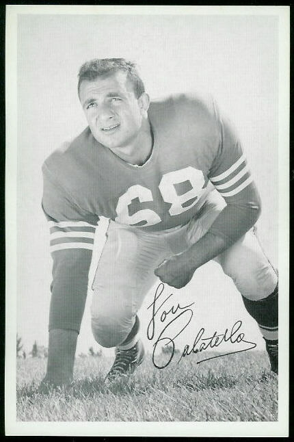 Lou Palatella 1955 49ers Team Issue football card
