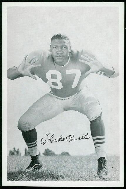 Charlie Powell 1955 49ers Team Issue football card