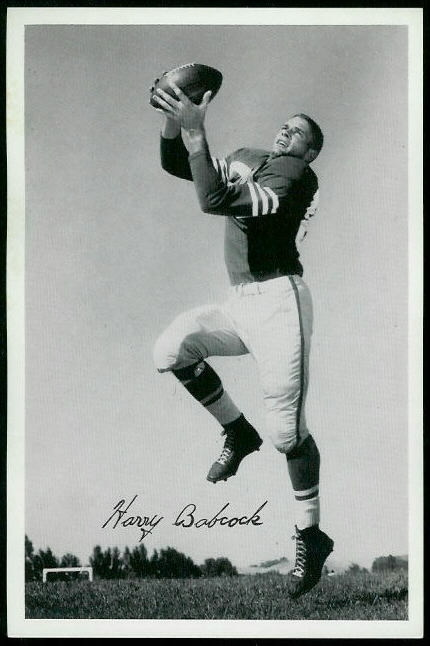 Harry Babcock 1955 49ers Team Issue football card