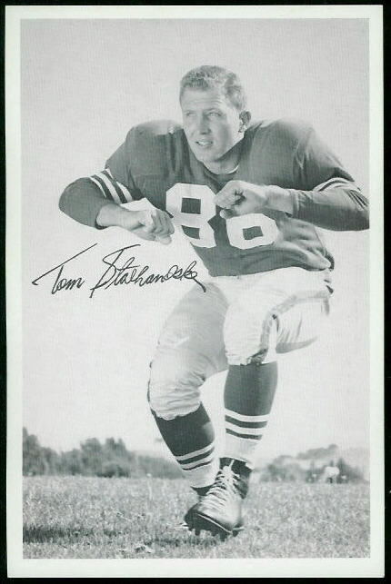 Tom Stolhandske 1955 49ers Team Issue football card