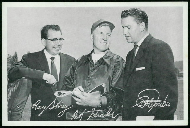 49ers Announcers 1955 49ers Team Issue football card