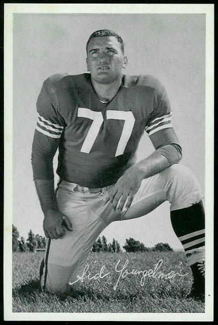 Sid Youngelman 1955 49ers Team Issue football card