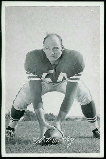 Ed Beatty 1955 49ers Team Issue football card
