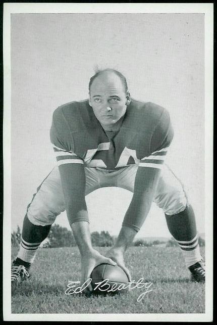 Ed Beatty 1955 49ers Team Issue football card