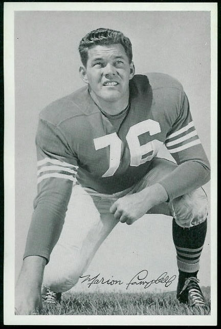 Marion Campbell 1955 49ers Team Issue football card