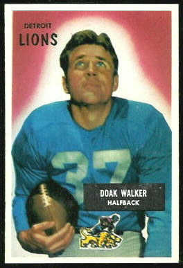 Doak Walker 1955 Bowman football card