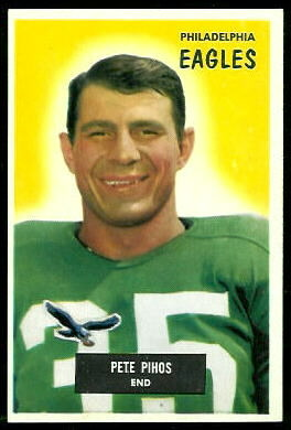 Pete Pihos 1955 Bowman football card