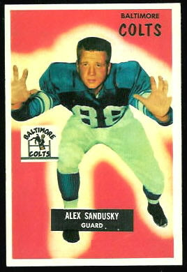 Alex Sandusky 1955 Bowman football card