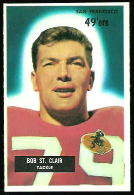Bob St. Clair 1955 Bowman football card