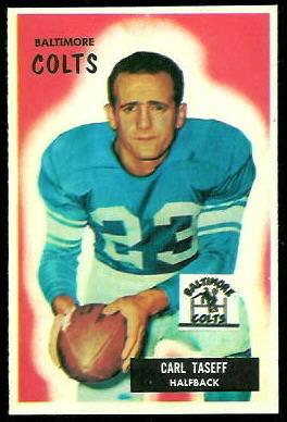 Carl Taseff 1955 Bowman football card