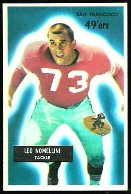 Leo Nomellini 1955 Bowman football card