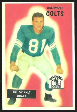 Art Spinney 1955 Bowman football card