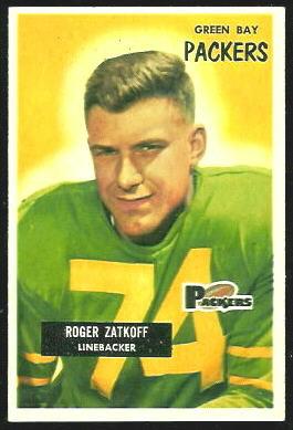 Roger Zatkoff 1955 Bowman football card