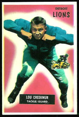 Lou Creekmur 1955 Bowman football card
