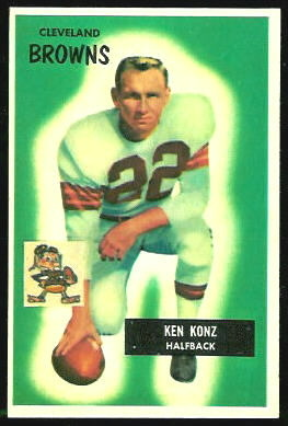 Ken Konz 1955 Bowman football card