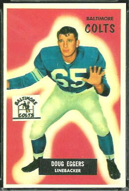 Doug Eggers 1955 Bowman football card