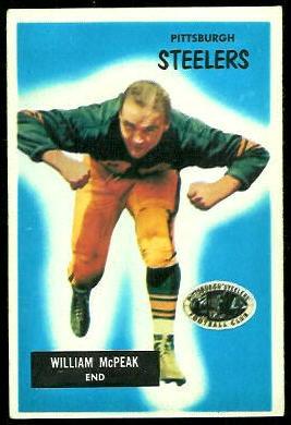 Bill McPeak 1955 Bowman football card