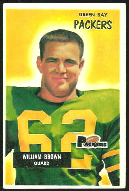 William Brown 1955 Bowman football card