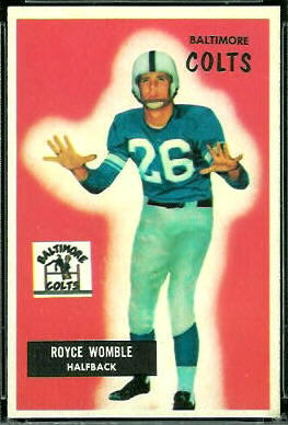 Royce Womble 1955 Bowman football card