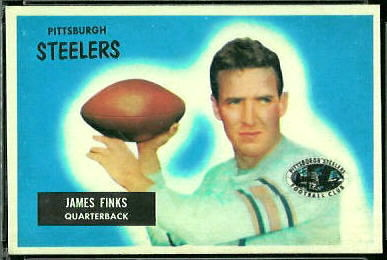 Jim Finks 1955 Bowman football card