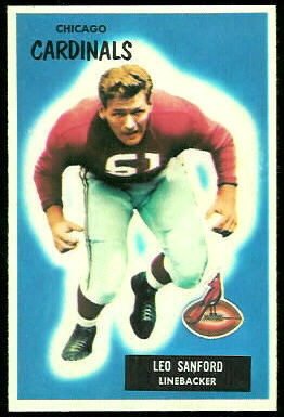 Leo Sanford 1955 Bowman football card