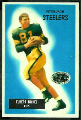Elbert Nickel 1955 Bowman football card