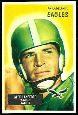 Buck Lansford 1955 Bowman football card