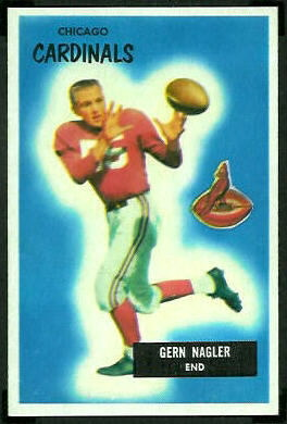 Gern Nagler 1955 Bowman football card