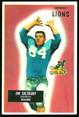 Jim Salsbury 1955 Bowman football card