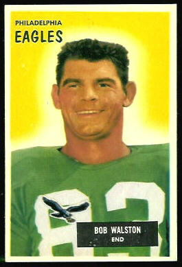Bobby Walston 1955 Bowman football card